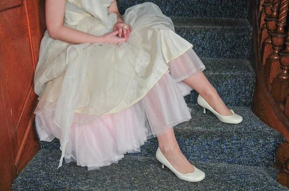 "SAMPLE SALE - Pale Pink Retro Girl 3-Tier Soft Chiffon Crinoline - 29"" inches"