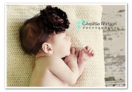 NEW ITEM Scrumptious Chocolate Flower Headband Photograpy Prop Newborn to Adults