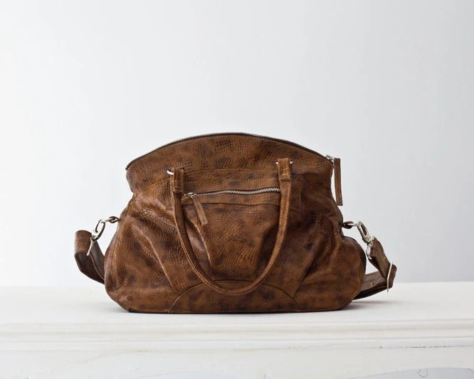 Arethusa  in  Brown patterned Leather