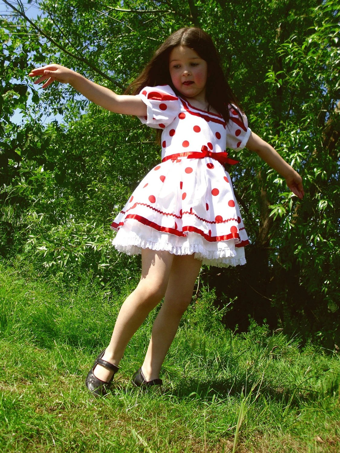 Goodship Lollipop Shirley Temple Style Girls Costume Dress 4 - 6 years