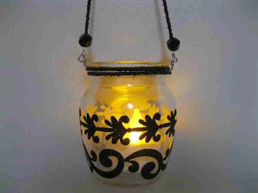 Hand Painted Votive Candle Holders