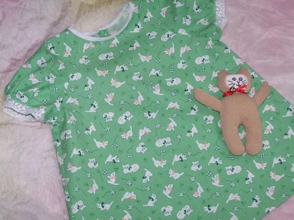 Vintage Inspired Green Dress size 6-12 months