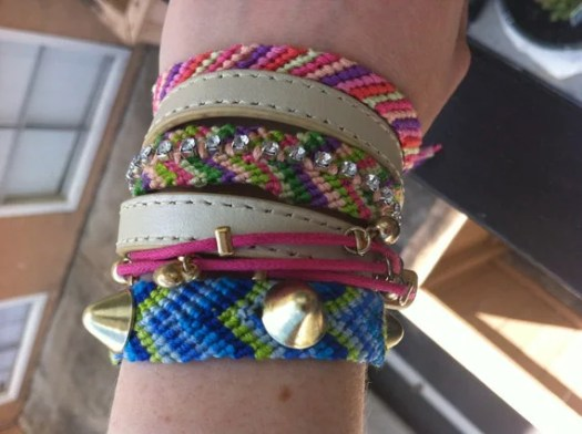 Rhinestone Woven Friendship Bracelet