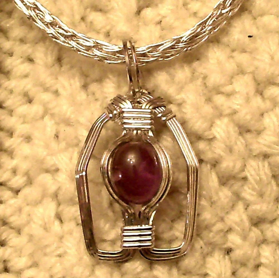 DoLoBo Viking Knit Necklace and Carnelian Pendant