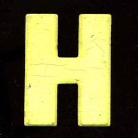 Vintage Letter H