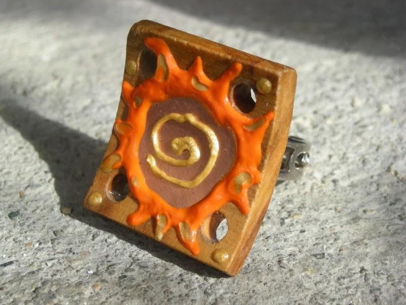 ISLAND SUN Handpainted Wood Art Ring