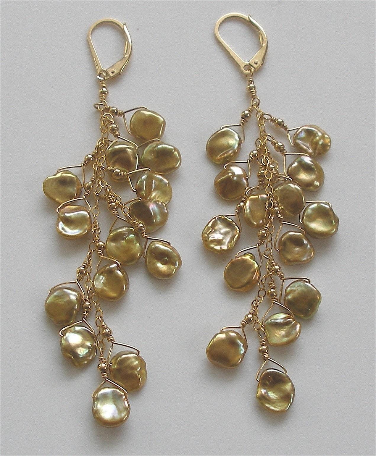 Cascade Grande Gold Earrings