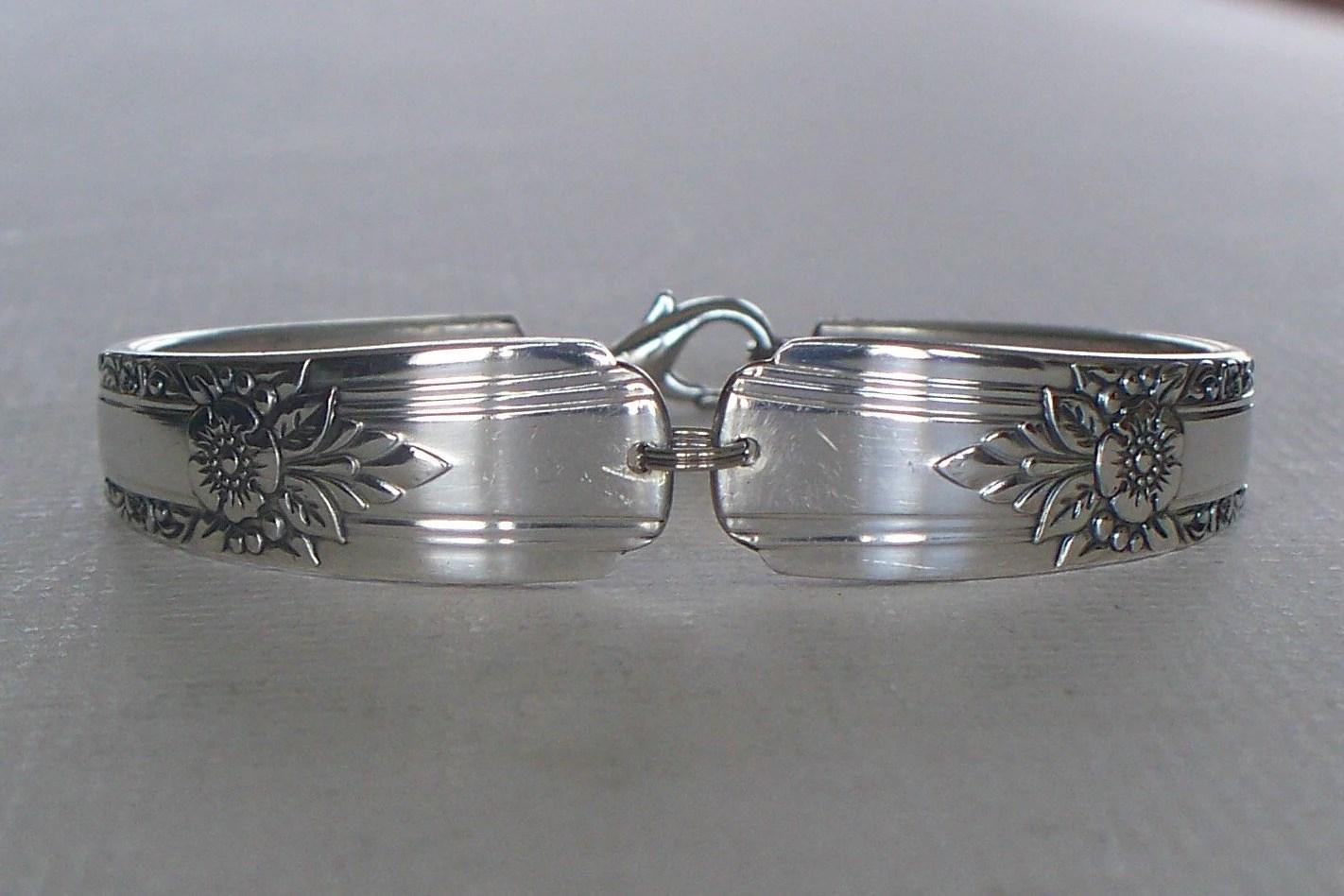Dark Artistry Spoon Bracelet Wild Rose Pattern