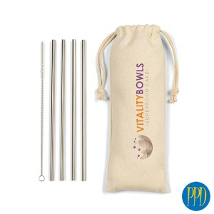 reusable stainless steel drinking straw for New York and New Jersey business marketers