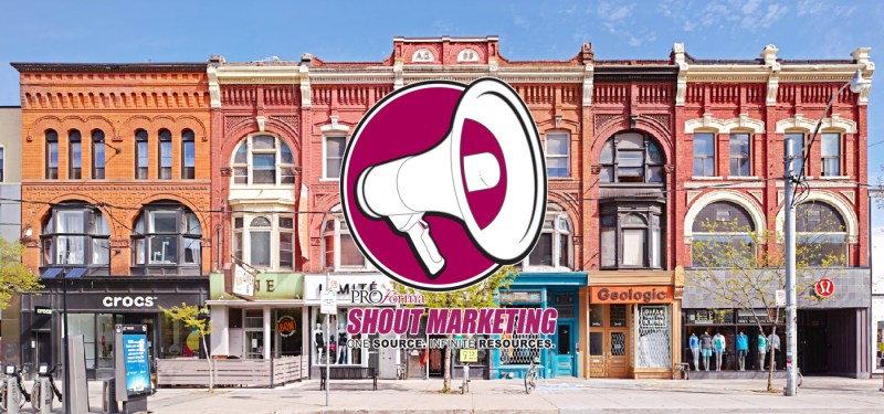Shout Marketing takes on Toronto Ontario Promotional Product Direct.