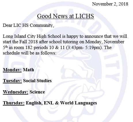 Long Island City High School / Overview