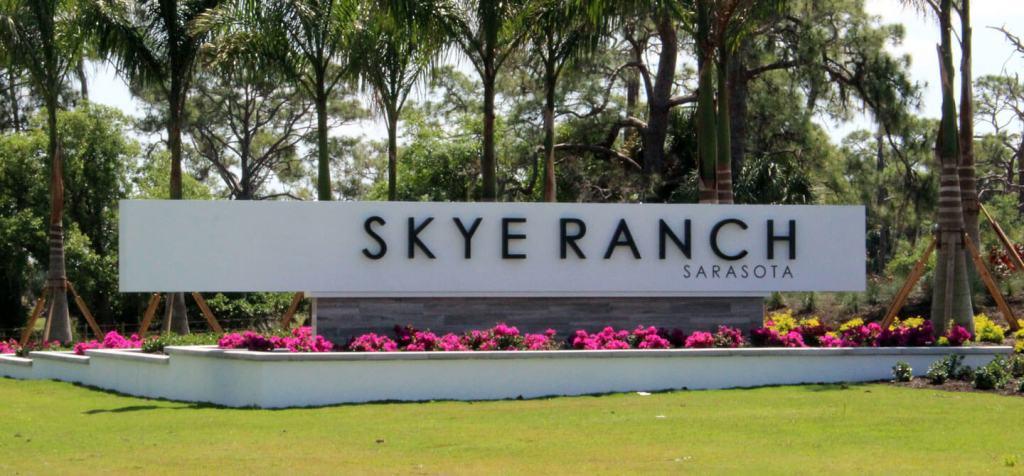 skye ranch street sign