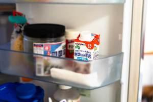 ネコちゃんの牛乳を冷蔵庫で保管