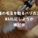 猫の毛玉を取るバリカンをWAHLにしようか検討中