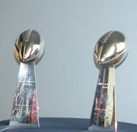 Denver Bronco Super Bowl Trophies