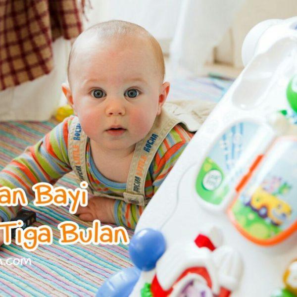 Jenis Mainan Bayi Usia Tiga Bulan