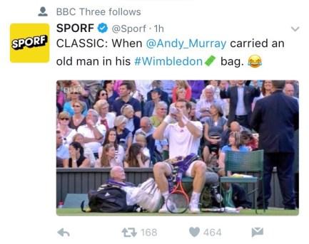 Follow the most hilarious tweets at #Wimbledon.