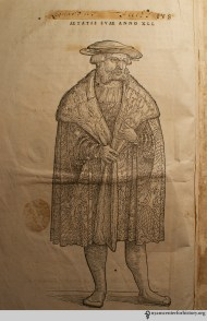 Leonhart Fuchs, one of the great botanists and doctors of the 16th century. Portrait from De historia stirpium commentarii insignes, 1542. Read more.