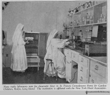Trick-or-treating as a nun-scientist would really make you stand out while honoring these women featured in the October 1938 edition of the New York Tuberculosis and Health Association Journal.