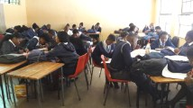 one of my classes, with the kids doing an activity