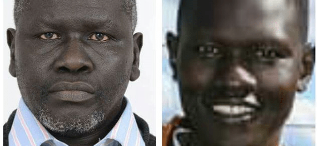Dong Samuel Luak(R) and Aggrey Idri(L), South Sudanese activists and exiled politicians, who have been detained in Kenya and at risk of unlawful deportation back to South Sudan,(Photo: private file)