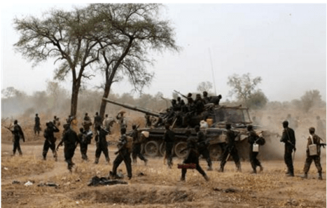 SPLA troops retreating from a battle field(Photo: file)