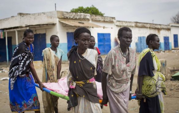 Women burying the deads in Malakal, South Sudan(Photo: file)
