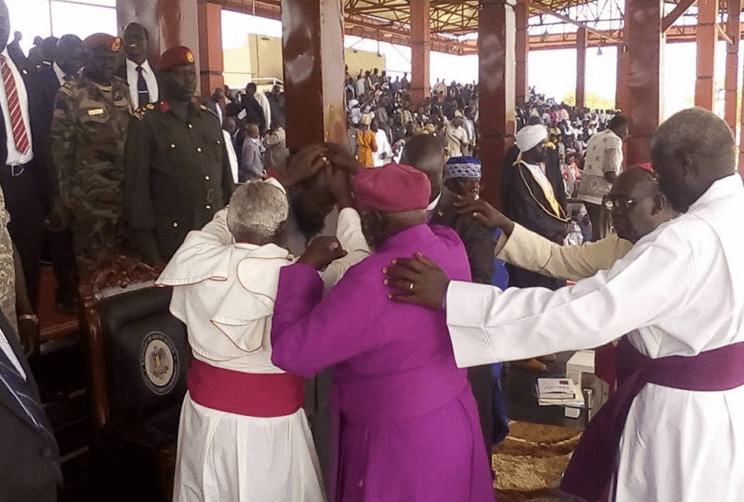 Bishops helping President Salva Kiir sins he has done while fighting continued in Ayod County, Yuai and Torit(Photo: file)