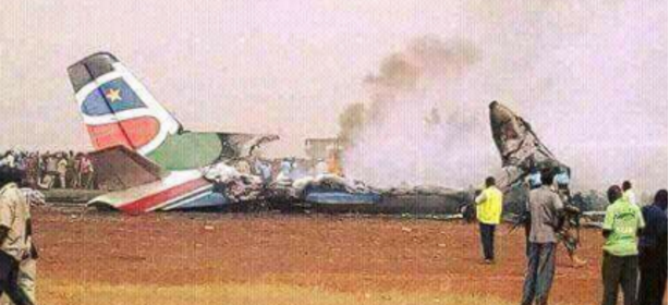 A plane crushing in South Sudan's Wau, the Capital of Western Bhar el Ghazal state(Photo: file)