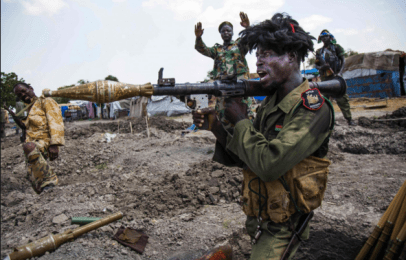 A South Sudan soldier firing a rocket propel grenade in South Sudan civil war(Photo: file)