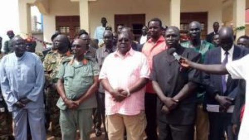 Gen. Malong Awan, the former COGS, posing for a photo in Yirol after he escaped Juba (Photo/extracted)