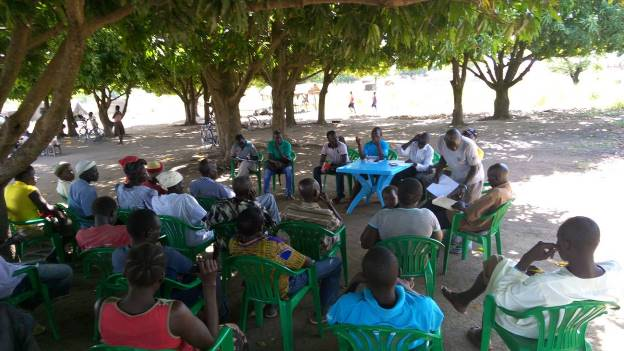 Photo: During our community dialogue in Mungula ll refugee camp.