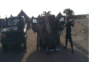 Heavy weapons captured by SPLA-IO from Salva Kiir's troops in Tunja(Photo: supplied)