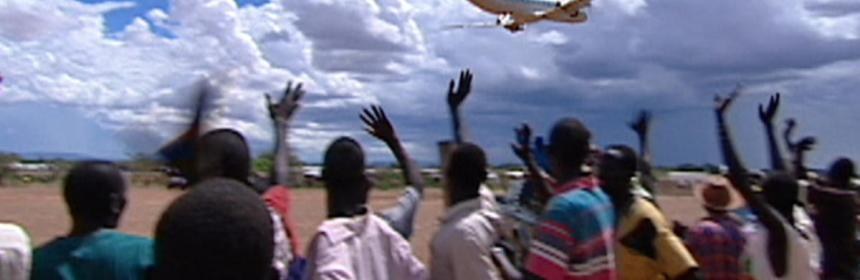 An aeroplane full of lost boys of Sudan taking off from Kakuma Airstrip in Kakuma, North Western Kenya.(Photo: file)