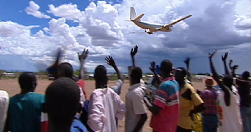 An aeroplane full of lost boys of Sudan taking off from Kakuma Airstrip in Kakuma, North Western Kenya.(Photo: file)