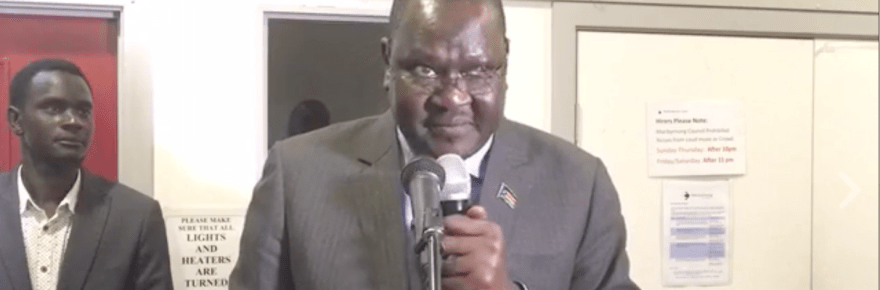 Ateny Wek Ateny, the Spokesman of President Kiir, speaks in Australia(Photo: file)