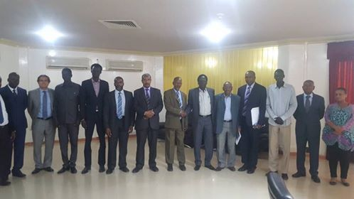 Lt. Gen. Peter Gatdet Yaka and his team meet IGAD delegates as part of consultation to revive South Sudan Peace Agreement(Photo: Nyamilepedia)