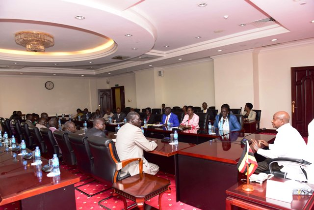 The President Yoweri Kaguta Museveni chairs a meeting with Various factions of the Sudan People's Liberation Movement (SPLM) that later signed the Entebbe Declaration to operationalize the Arusha Agreement on the reunification of the SPLM.The declaration was signed on 27th July 2017 at State House Entebbe  under the auspices of President Yoweri Museveni.