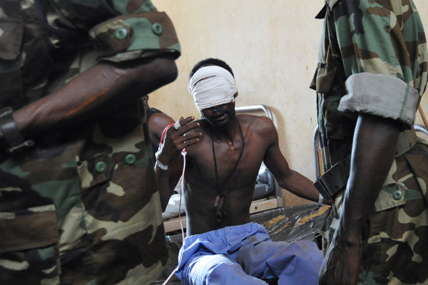 A South Sudanese youth being tortured by the SPLA at unknown location(Photo: file)