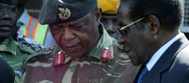 A photo of President Robert Mugabe and General Constantino Chiwenga. Photo: Reuters