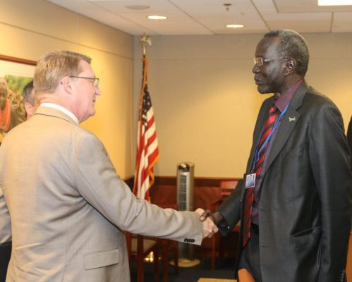 Stephen Dhieu Dau Concluding The IMF And The World Bank 2017 Spring Meetings(Photo: file)