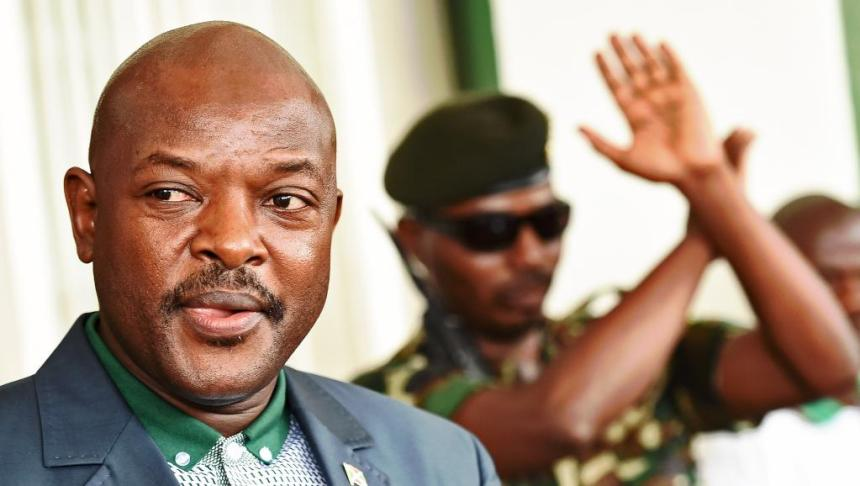 Burundian President, Pierre Nkurunziza, and his bodyguard(Photo: file)