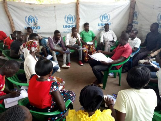 A group of South Sudanese civil society group known as AYAN meeting in Rhino Refugee camp in Uganda(Photo: file)