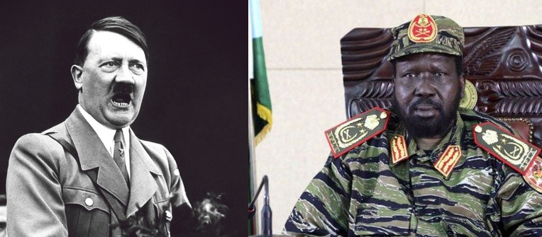 Leader of the fractured SPLM, Gen. Salva Kiir Mayardit, compared to Nazi Party leader and former Germans' dictator, Adolf Hitler(Photo: supplied)