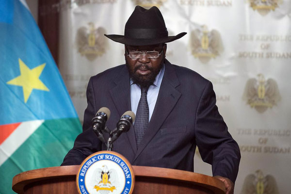 South Sudan leader Salva Kiir Mayardiit (File photo)