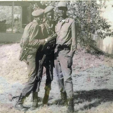 A photo of junior officers(child soldiers) of the SPLM/A in 1980s.( Photo credit: Romeo Gulf's profiles)
