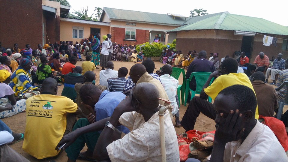 Residents of Torit mourns the late Director General of Finance and Public Service, Hon. Alfred Kayumba Tugul(Photo: Nyamilepedia/Onyang Peter)