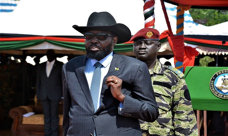 President Kiir in Bilpam, Juba, South Sudan. 10 May 2018 (Photo credit. PPU)
