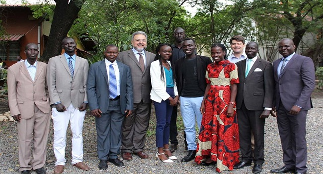 Young South Sudanese leaders posts for a photo (Photo credit: US Embassy, Juba)