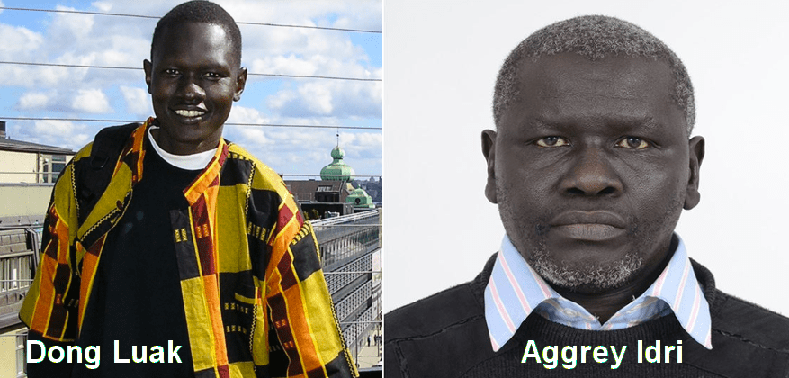 Dong Samuel Luak (R) and Aggrey Idri (L) appears in a combined photo (File photo)